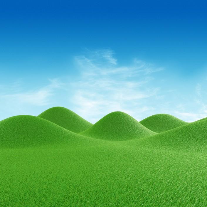 3D grass render